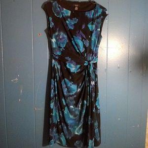 Chaps Dresses - 🐙Chaps blue floral dress